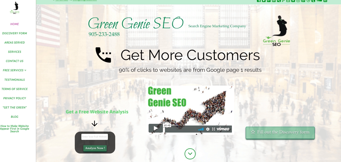 Green Genie Ugly Site